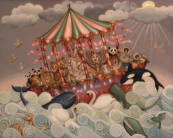 L 39 arche de noe aux rubans marie amalia for Tableau de l arche de noe