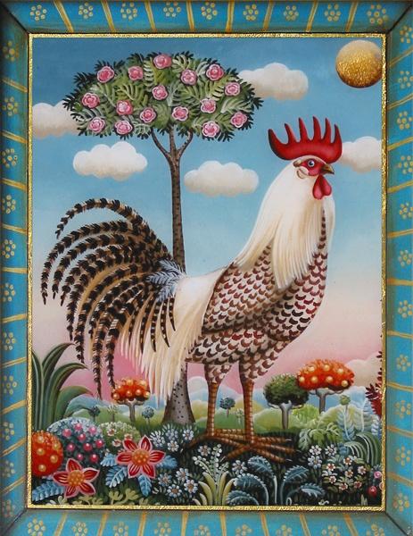 Le coq chinois marie amalia for Artiste peintre chinois